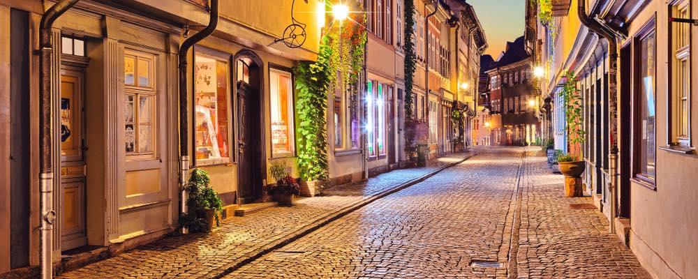 historische straat in Erfurt