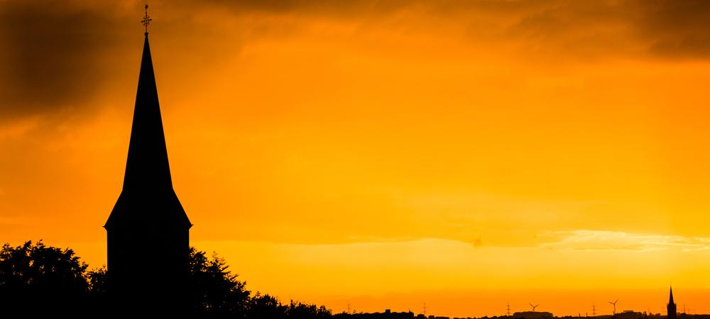 avond skyline van eschweiler