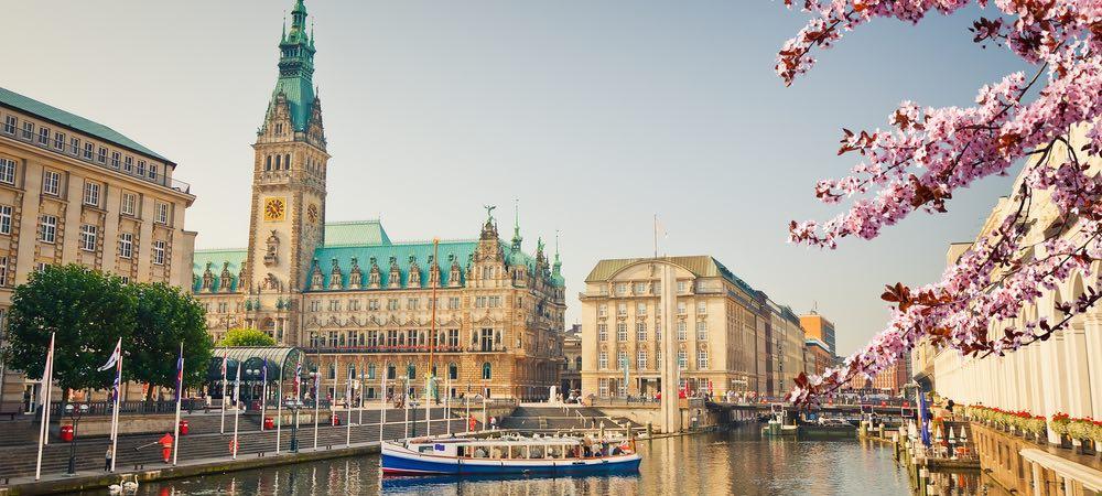 alstel rivier in Hamburg