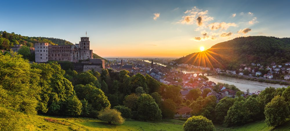 uitzicht van Heidelberg