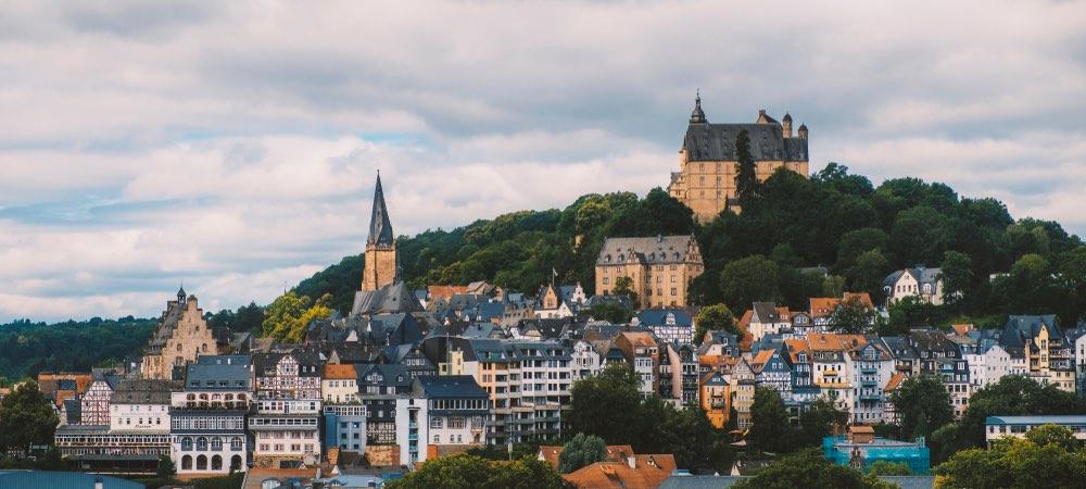 uitzicht over Marburg