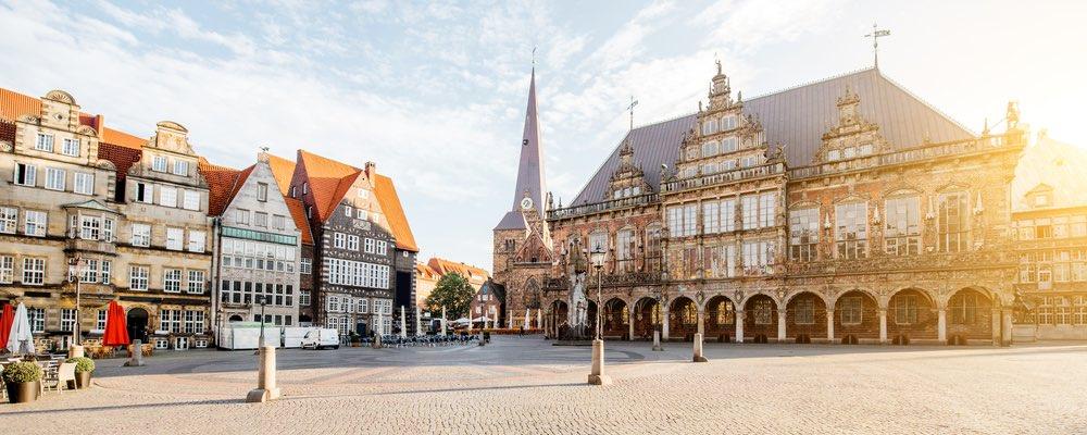 het stadhuis in Bremen