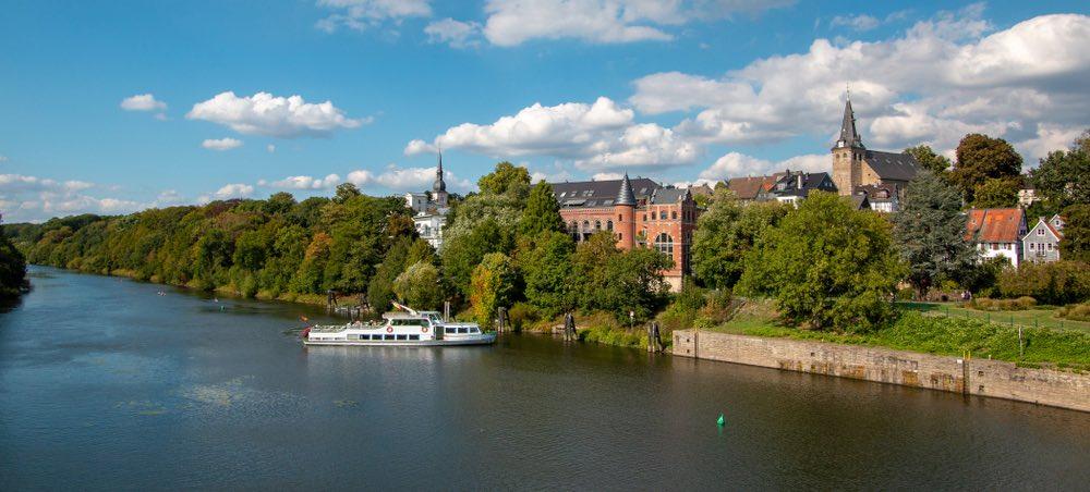 Essen an der Ruhr rivier